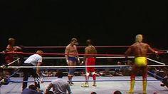 """Paul Orndoff & """"Rowdy"""" Roddy Piper vs. Mr. T & Hulk Hogan in a Tag Team Match at WrestleMania 1 [1985]. #WWE #WrestleMania"""