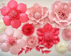 Papier Blume Vorlage DIY Papier Blume DIY Kulisse von APaperEvent