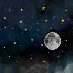 Night Sky Stars Moon Watercolor Backdrop – 6339 Nachthimmel Sterne Mond Aquarell Hintergrund – 6339 – Backdrop Outlet This image. Night Sky Stars, Stars And Moon, Night Skies, Moon And Stars Wallpaper, Star Night, The Moon, Night Sky Moon, Night Sky Wallpaper, Moon Moon