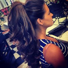 ponytail. Wish I could do this, but my hair is so damn difficult. Plus my hair isn't this long anymore, I miss it!! :( Learn How To Grow Luscious Long Sexy Hair @ http://llonghairtips.org/ #longhair #longhairstyles #longhairtips