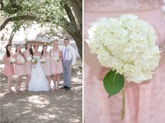 BrittRene Photo » lifestyle photographer ranch wedding, vintage wedding, boho wedding, hidden oaks, san diego wedding, blush, bridesmaids, hydrangea bouquet