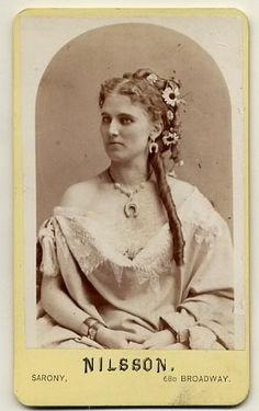 """The Swedish singer Christina Nilsson, Leroux' inspiration for the character of Christine Daae in """"Phanton of the Opera"""""""
