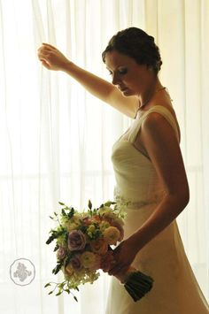 A beautiful bride whit a romantic bouquet https://www.facebook.com/irisdesign.pv?ref=hl #weddings #bodas #bouquet #puertovallarta