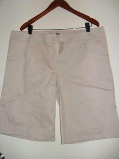 MODA womens shorts size16 beige nwot adjustable length