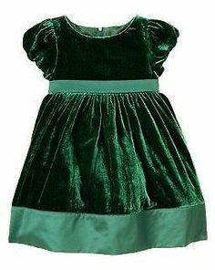 Gymboree Christmas Holiday Celebrations Green Fancy Full Velveteen Dress | eBay