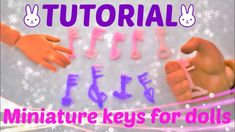 Tutorial : miniature key for our dolls 🔑 🗝 🔑 Doll Tutorial, Pet Shop, Clay Art, Creations, Barbie, Miniatures, Dolls, Youtube, Baby Dolls