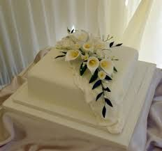 one layer square wedding cakes - Google Search