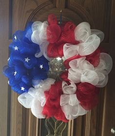 American Flag Wreath   https://www.etsy.com/listing/188247827/lovely-american-flag-wreath-great-for?
