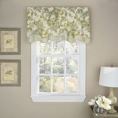 Shop for Waverly Spring Bling Window Pieced Scalloped Valance - Get free delivery On EVERYTHING* Overstock - Your Online Home Decor Outlet Store! Floral Bedspread, Decorative Curtain Rods, Valance Curtains, Valances, Waverly Curtains, Cornice, Drapery, Panel Doors, Rod Pocket