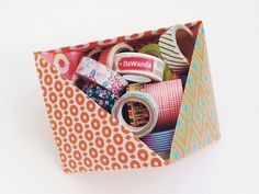 DIY tutorial: Make a Paper Storage Tray via DaWanda.com