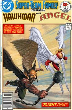 Hawkman and Angel Super-Team Family: The Lost Issues! Comic Book Covers, Comic Book Heroes, Comic Books Art, Comic Art, Book Art, Marvel And Dc Crossover, Fandom Crossover, Dc Comics Art, Anime Comics