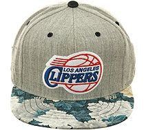 Mitchell and Ness BCS NS61z Los Angeles Clippers Floral Strapback Hat -  Heather Gray 1c68c9afdd8d