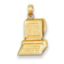 Computer Wiz Charm in 14k Gold