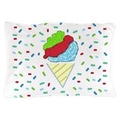 Snow Cone Confetti Pillow Case