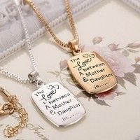 I think you'll like Fashion Love Between Mother and Daughter Gold/Silver Chain Pendant Necklace Best Gift. Add it to your wishlist!  http://www.wish.com/c/54fff9ed65401d6a5f2ef5c5