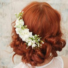 LOVE this (half up half down) Whimsical #Hairstyle for your #wedding