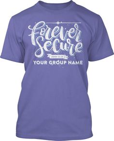 Forever Secure Handlettering Handlettered Calligraphy Christian Womens Ministry Church T-Shirt Design #860
