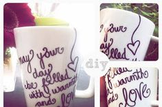 Sharpie mugs.best idea ever! Just decorate and bake in the oven for 30 min on DIY and Crafts, Sharpie mugs.best idea ever! Just decorate and bake in the oven for 30 min on 350 to make it permanent! Sharpie Projects, Sharpie Crafts, Easy Diy Projects, Sharpie Art, Sharpies, Craft Projects, Homemade Gifts, Diy Gifts, Sharpie Coffee Mugs