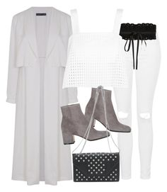 """""""Untitled #4558"""" by amm-xo ❤ liked on Polyvore featuring Topshop, Maje, 3.1 Phillip Lim, Gianvito Rossi and Yves Saint Laurent"""