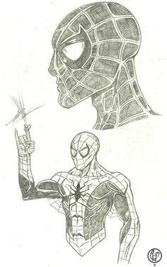 Spider-man study  Illustration: Leandro Sans Site: http://leandrosans.flavors.me Instagram: @leadro_sans