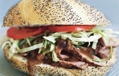 69 Quick Low-Calorie Lunches That Are Yummy To Eat Slaw Recipes, Pork Recipes, Lunch Recipes, Cooking Recipes, Pork Meals, Sandwich Recipes, Yummy Recipes, Pork Tenderloin Sandwich, Lunches