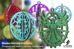 Lumigrafika in Gympie, QLD, Graphic Design Wooden Christmas Ornaments, Christmas Decorations, Holiday Decor, Creative Studio, Graphic Design, The Originals, How To Make, Products, Visual Communication