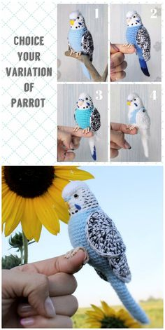 crochet toys and dolls You will love these Crochet Bird Patterns Ideas. We're featuring small birds, big birds and every kind in-between. Crochet Bird Patterns, Crochet Birds, Crochet Patterns Amigurumi, Cute Crochet, Crochet Animals, Crochet Crafts, Crochet Flowers, Crochet Toys, Knitting Patterns