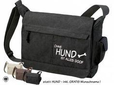 BaumwolltaschenCanvas Bag Nature: Ohne Hund ist alles doof