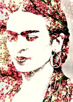 Frida Kahlo Art Print Photomontage Signed Mixed by ARTDECADENCE