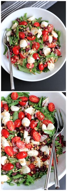 Couscous Salad Ingredients: Salad: 1 - 5 oz bag of mixed spring greens ½ cup of dry whole wheat couscous - cooked as per package instructions - should yield about 1 cup of cooked couscous. 1 cup of...