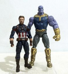 Avengers: Infinity War Thanos & Captain America Custom Figures By Kavin #Marvel