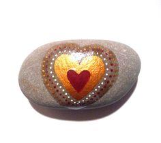 Heart art stone/paperweight by Ludibund on Etsy, $12.00