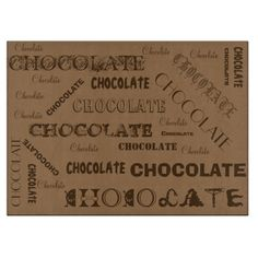 Shop Chocolate Designer Glass Cutting Board - Gifts created by libertydogmerch.