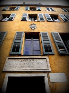 Napoleon's childhood home is now open for people to explore the beginnings of France's short general. Ajaccio . France