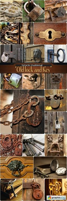 Old lock and Key  stock images