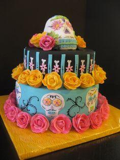 Sugar Skull Cake add a.layer..hello wedding cake!!