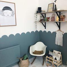 Demis Murs, Half Painted Walls, Half Walls, Kids Room Paint, Kids Room Design, Little Girl Rooms, Baby Decor, Boy Room, Girls Bedroom