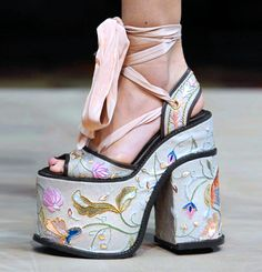 Vivienne Westwood. Without the ribbon these would be divine