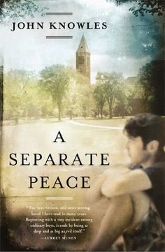 A Separate Peace by John Knowles, http://www.amazon.com/dp/B00JN7BNR0/ref=cm_sw_r_pi_dp_wrmBtb1PF19W0