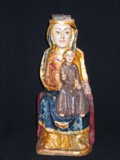 Virgen sedente con el Niño. S. XII-XIII Santibañez de la L.