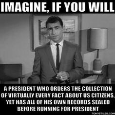 You are now entering the TWILIGHT ZONE, aka the United States of America circa 2008 to present........Will you have to alter your identity to make it out alive?