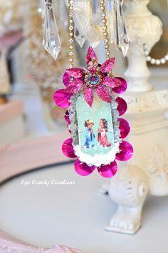 Praying Angels Vintage Handmade Ornament