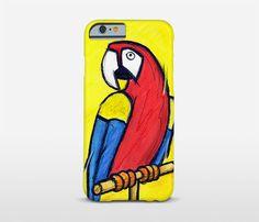 Illustration Art Parrot Phone Case iPhone Plus by Macrografiks