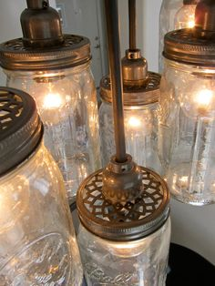 I'm in love with these mason jar lights! So easy to make.