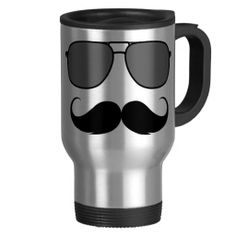 Shop mustache and glasses travel mug created by Personalize it with photos & text or purchase as is! Custom Travel Mugs, Mustache, Photo Mugs, Coffee Mugs, Ceramics, Money, Glasses, Link, Tableware