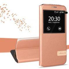 Samsung Galaxy S7 edge ruusukulta ikkunakuori. Galaxy S7, Samsung Galaxy, Cuir Rose, S7 Edge, Rose Gold, Phone, Big, Telephone, Phones