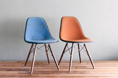 Eames Pair of Girard Hopsack DSW for Herman Miller by castandcrew, $545.00