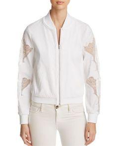 KOBI HALPERIN Zandra Bomber Jacket. #kobihalperin #cloth #jacket