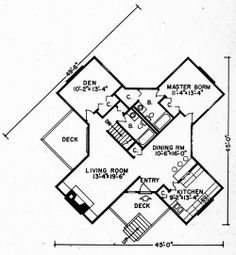 Vacation & Leisure Home Plans, Plan No. 10330  Pinned by www.modlar.com