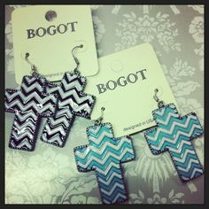 Chevron Cross Earrings